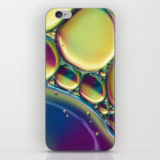 Oil and Water Abstract with Purple iPhone & iPod Skin