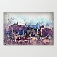 rome Canvas Prints featuring Rome by jbjart