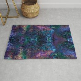 Violet snake skin pattern Rug