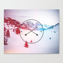 Crossed Arrows Canvas Print