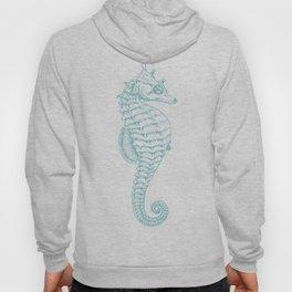 Tropical Seahorses (Seahorse Pattern) - Blue Hoody