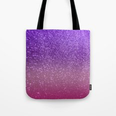 Gradient Glitter Purple Pink Sparkle Tote Bag