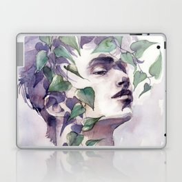 A man with ivy, watercolor portrait Laptop & iPad Skin