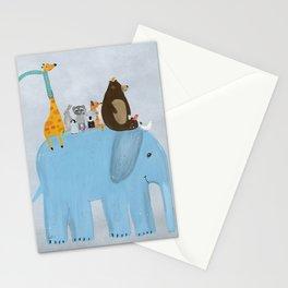 the big blue elephant Stationery Cards
