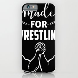 Wrestling Armwrestling Fighters Fight iPhone Case
