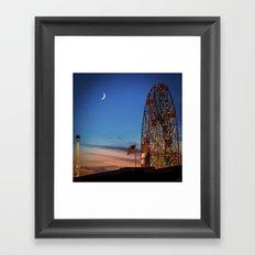 Coney Island Twilight Framed Art Print