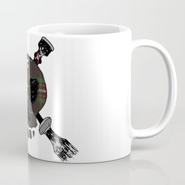 Skull and Cross-drones Tartan Coffee Mug