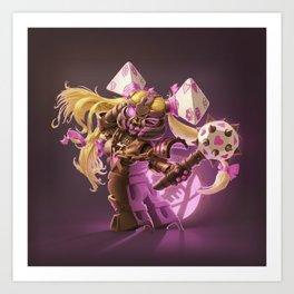 The Nefarious Nega-BlokTrix Art Print