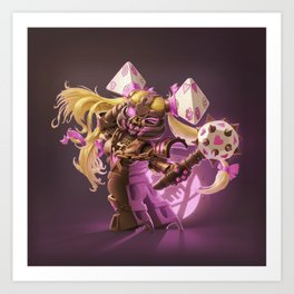 The Nefarious Nega-BlokTrix Art Print