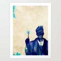 david tennant Art Prints featuring Doctor Who 10th Doctor David Tennant by Art by Colin