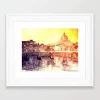 rome Framed Art Prints featuring Rome by takmaj