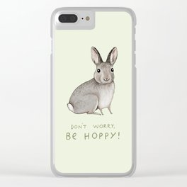 Don't Worry Be Hoppy Clear iPhone Case