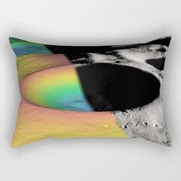 Rainbow Moon Craters Rectangular Pillow