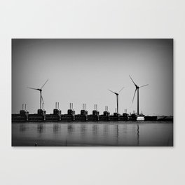 Turbines by the sea Canvas Print