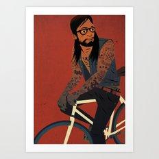 Bicycles & Tattoos (2) Art Print
