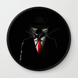 Mobster Cat Wall Clock
