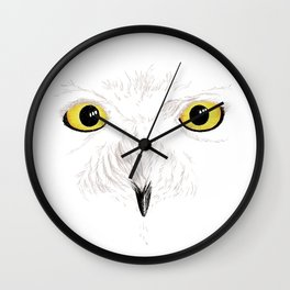 Peer into the Light – Snowy Owl Wall Clock