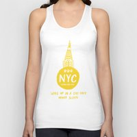 nyc Tank Tops featuring NYC by Kathryn Twirls