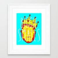 biggie smalls Framed Art Prints featuring Biggie Smalls by Hussein Ibrahim