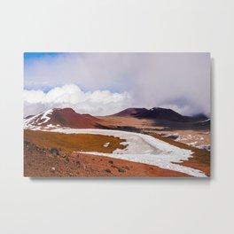 Snow Mauna Kea Observatory Hawaï | The Big Island Nasa, Snow, vulcano | Photo Print | pastel - travel - photography Metal Print
