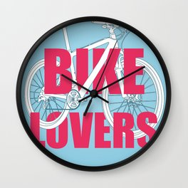 Bike lovers Wall Clock