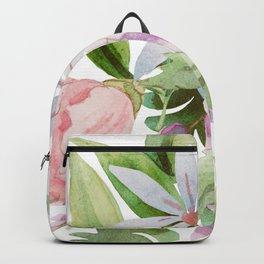 Dainty Spring Wildflower Floral Backpack