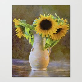 It's What Sunflowers Do - Flower Art Canvas Print