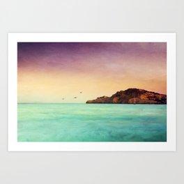 Glowing Mediterranean Art Print