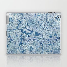 Blue Boho Paisley Pattern Laptop & iPad Skin