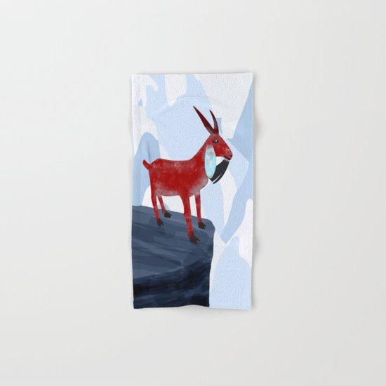 Mountain Goat Design Hand & Bath Towel