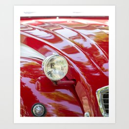 Red classic cars theme Art Print