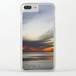 Surfers In Wait Clear iPhone Case