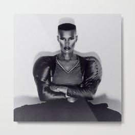 Grace Jones - Warm Leatherette Metal Print