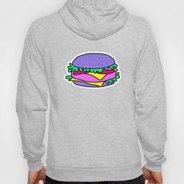 Psychedelic burger / Pink Grid Hoody