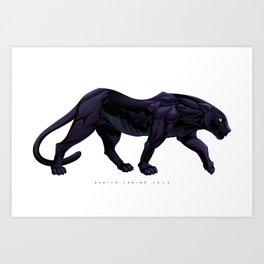 Illustration of a black panther Art Print