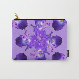 Purple Iris Abstract  Collage Art Carry-All Pouch