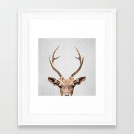 Deer - Colorful Framed Art Print
