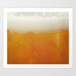 Beer Bubbles Art Print