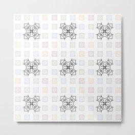 Art Deco Pattern Multicolor Metal Print