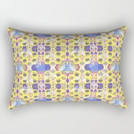 Bee Hive Psychedelic Visionary Geometric Art Print Rectangular Pillow