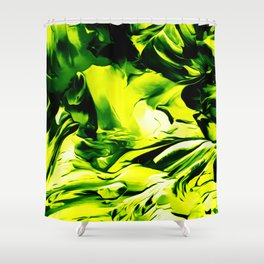 Abstract flow painting v12 Shower Curtain