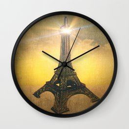 A Beacon of Light in Paris Wall Clock
