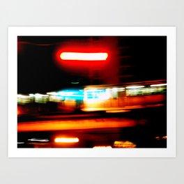 Night riding Art Print