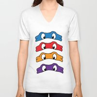tmnt V-neck T-shirts featuring TMNT by Kaylabeaisaflea