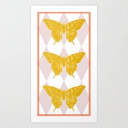 Honey Swallowtail Butterfly Art Print