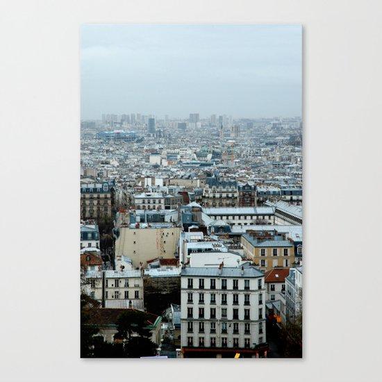 Over Paris Canvas Print