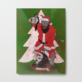 Merry Krampus aka Dismembered in December Metal Print