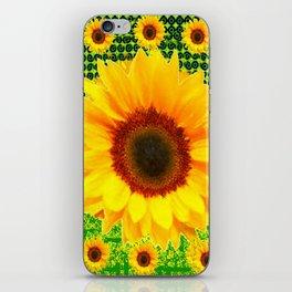 SPRING GREEN YELLOW FLOWERS GARDEN PATTERN iPhone Skin