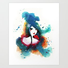 Ode to Blue Art Print