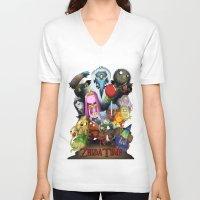 lemongrab V-neck T-shirts featuring Zelda Time! by Yiji